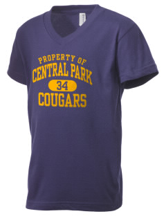Central Park Elementary School Cougars Kid's V-Neck Jersey T-Shirt