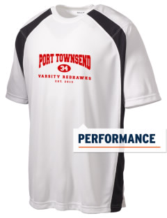 Port Townsend Senior High School Redskins Men's Dry Zone Colorblock T-Shirt