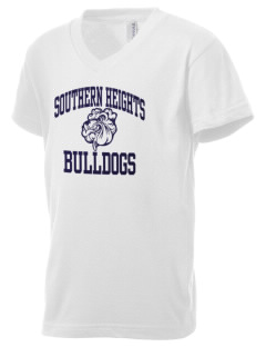 Southern Heights Elementary School Bulldogs Kid's V-Neck Jersey T-Shirt