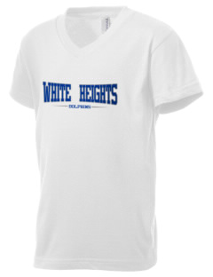 White Center Heights Elementary School Dolphins Kid's V-Neck Jersey T-Shirt