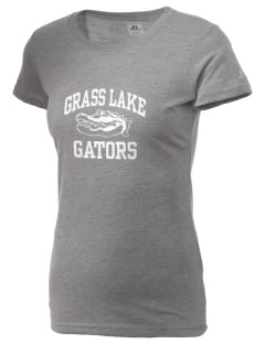 Grass Lake Elementary School Gators  Russell Women's Campus T-Shirt