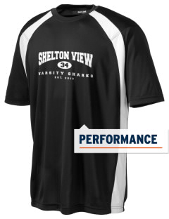 Shelton View Elementary School Sharks Men's Dry Zone Colorblock T-Shirt