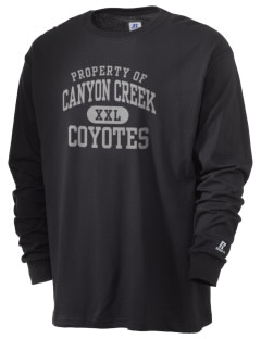 Canyon Creek Elementary School Coyotes  Russell Men's Long Sleeve T-Shirt