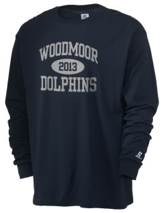 Woodmoor Elementary School Dolphins  Russell Men's Long Sleeve T-Shirt