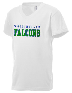 Woodinville High School Falcons Kid's V-Neck Jersey T-Shirt