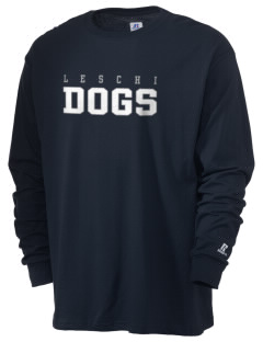 Leschi Elementary School Dogs  Russell Men's Long Sleeve T-Shirt