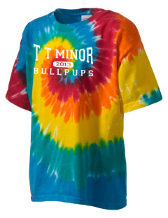 T T Minor Elementary School Bullpups Kid's Tie-Dye T-Shirt