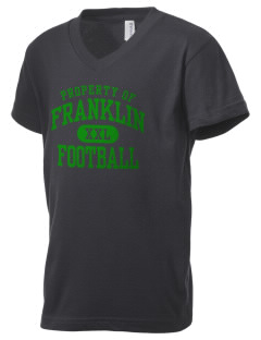 Franklin High School Quakers Kid's V-Neck Jersey T-Shirt
