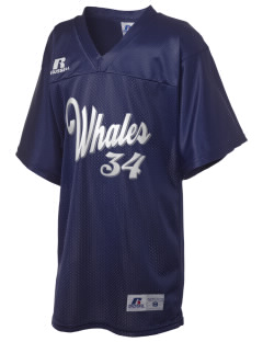 Graham Hill Elementary School Whales Russell Kid's Replica Football Jersey