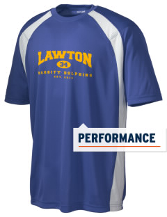 Lawton Elementary School Dolphins Men's Dry Zone Colorblock T-Shirt