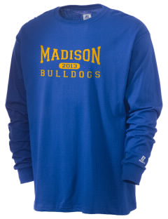 Madison Middle School Bulldogs  Russell Men's Long Sleeve T-Shirt