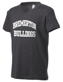Bremerton Junior High School Bulldogs Kid's V-Neck Jersey T-Shirt