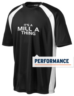 Mill A Elementary School Bobcats Men's Dry Zone Colorblock T-Shirt
