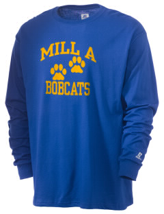 Mill A Elementary School Bobcats  Russell Men's Long Sleeve T-Shirt