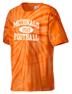 McDonald Elementary School Mustangs Kid's Tie-Dye T-Shirt