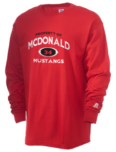 McDonald Elementary School Mustangs  Russell Men's Long Sleeve T-Shirt