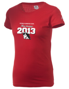 McDonald Elementary School Mustangs  Russell Women's Campus T-Shirt