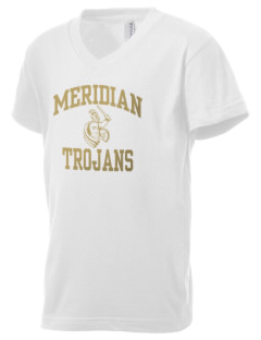 Meridian High School Trojans Kid's V-Neck Jersey T-Shirt