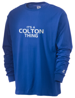Colton High School Wildcats  Russell Men's Long Sleeve T-Shirt