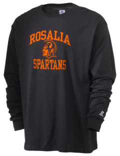 Rosalia School Spartans  Russell Men's Long Sleeve T-Shirt