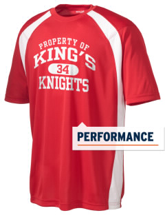 King's High School Knights Men's Dry Zone Colorblock T-Shirt
