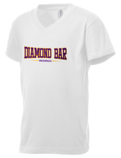 Diamond Bar High School Brahmas Kid's V-Neck Jersey T-Shirt