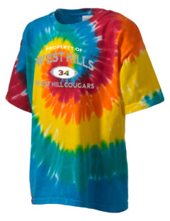 West Hills Intermediate School West Hill Cougars Kid's Tie-Dye T-Shirt