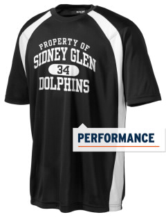 Sidney Glen Elementary School Dolphins Men's Dry Zone Colorblock T-Shirt