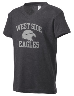 West Side High School Eagles Kid's V-Neck Jersey T-Shirt