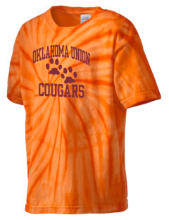 Oklahoma Union School Cougars Kid's Tie-Dye T-Shirt