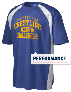 Crestline School Challengers Men's Dry Zone Colorblock T-Shirt