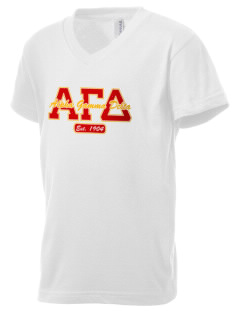 Alpha Gamma Delta Kid's V-Neck Jersey T-Shirt