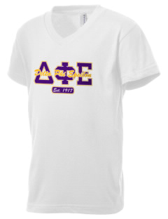 Delta Phi Epsilon Kid's V-Neck Jersey T-Shirt