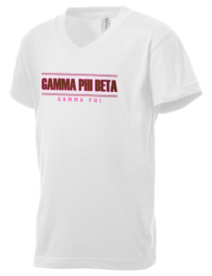Gamma Phi Beta Kid's V-Neck Jersey T-Shirt