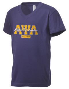 Alpha Psi Lambda Kid's V-Neck Jersey T-Shirt
