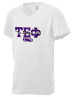 Tau Epsilon Phi Kid's V-Neck Jersey T-Shirt