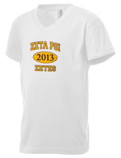 Zeta Psi Kid's V-Neck Jersey T-Shirt