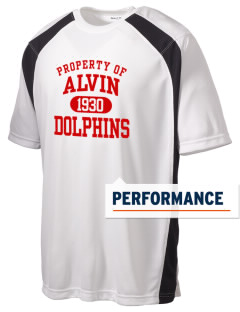 Alvin Community College Dolphins Men's Dry Zone Colorblock T-Shirt