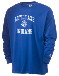 Little Axe Middle School Indians  Russell Men's Long Sleeve T-Shirt