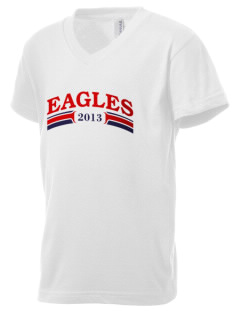 Douglas MacArthur Elementary School Eagles Kid's V-Neck Jersey T-Shirt
