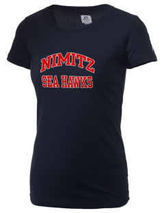 Nimitz Middle School Sea Hawks  Russell Women's Campus T-Shirt