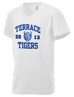 Terrace Elementary School Tigers Kid's V-Neck Jersey T-Shirt