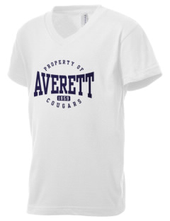 Averett University Cougars Kid's V-Neck Jersey T-Shirt
