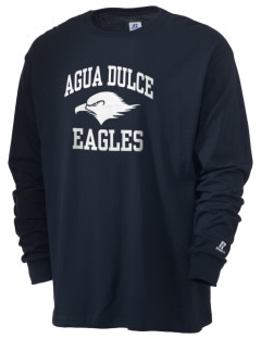 Agua Dulce Elementary School Eagles  Russell Men's Long Sleeve T-Shirt