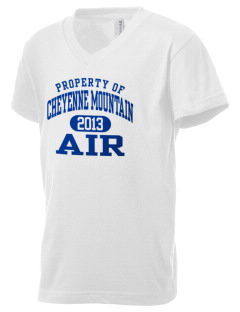 Cheyenne Mountain Air Station Kid's V-Neck Jersey T-Shirt