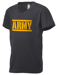 Anniston Army Depot Kid's V-Neck Jersey T-Shirt