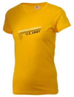 Schofield Barracks  Russell Women's Campus T-Shirt