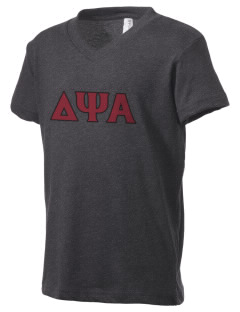 Delta Psi Alpha Kid's V-Neck Jersey T-Shirt