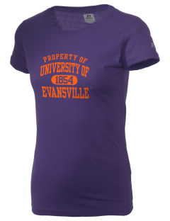 University of Evansville Purple Aces  Russell Women's Campus T-Shirt