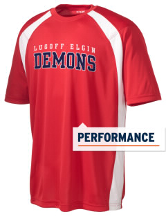 Lugoff Elgin High School Demons Men's Dry Zone Colorblock T-Shirt